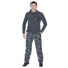 Брюки «Армия» (ткань: смесовая, цвет: черная цифра) 7.62