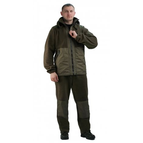 """Флисовый костюм """"Панда"""" хаки с накладками, 350 г/кв.м"""