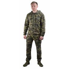 "Костюм трикотажный ""ТИР-3"" серо-зеленая цифра (куртка + брюки 100%х/б)"