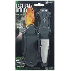 Нож McNETT тактика, сталь 420, клинок 7,62см. скошенный, цвет - Black