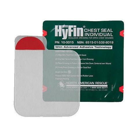 Прозрачный клейкий пластырь (6Х6 дюймов) Hyfin Chest Seal North American Rescue