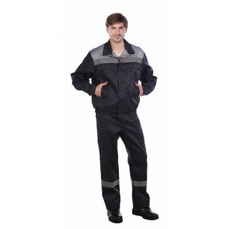"Костюм мужской ""Оптимал"" (Стандарт 2) летний, тёмно-серый со светло-серым. СОП 50 мм"