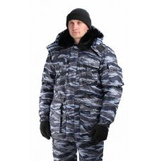 "Куртка мужская ""Охрана"" зимняя кмф серый ""вихрь"""
