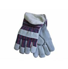 Перчатки комбинированные ткань - спилок утепленные, тип Ангара
