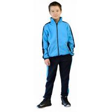 Костюм детский трикотажный ТИгР т.синий с голубым (куртка + брюки 100% хб)