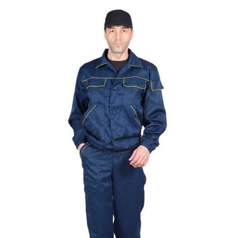 Костюм мужской «Мастер» летний куртка, п/к цв. темно-синий/желтый, тк. смесовая