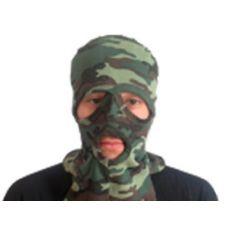 Подшлемник х/б трикотажный с вырезом для глаз и рта, цв. КМФ Флора зел.