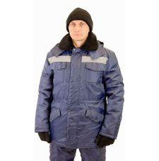 "Костюм мужской ""Мастер"" зимний куртка, п/к т-синий и СОП тк. Оксфорд"