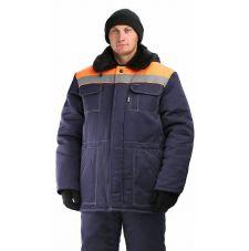 "Костюм мужской ""Легенда"" зимний куртка, брюки т-синий с оранжевым и СОП"
