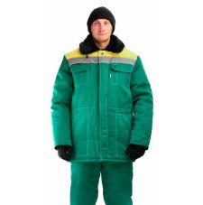 """Костюм мужской """"Легенда"""" зимний куртка, брюки зеленый с желтым и СОП"""