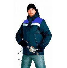 """Куртка мужская """"Рейс1"""" зимняя т-синяя с васильковым"""