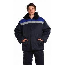 """Куртка мужская """"Бригада"""" зимняя синий с васильковым тк. смесовая"""