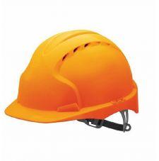 Каска защитная ЭТАЛОН оранжевая (храповик)