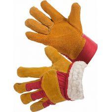 Перчатки комбинированные ткань - спилок утепленные, тип Русские Львы