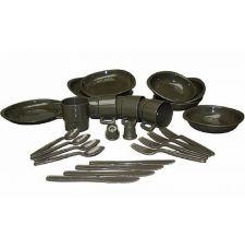 Набор столовой посуды (26 предметов) MIL-TEC, цвет Olive
