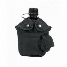 Фляга США с чехлом и кружкой MIL-TEC, цвет Black
