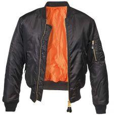 Куртка летная МА1 Brandit, цвет Black