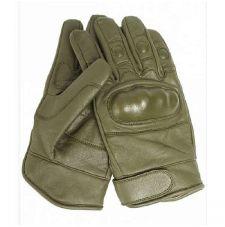 Перчатки тактические с костью кожаные, цвет Olive